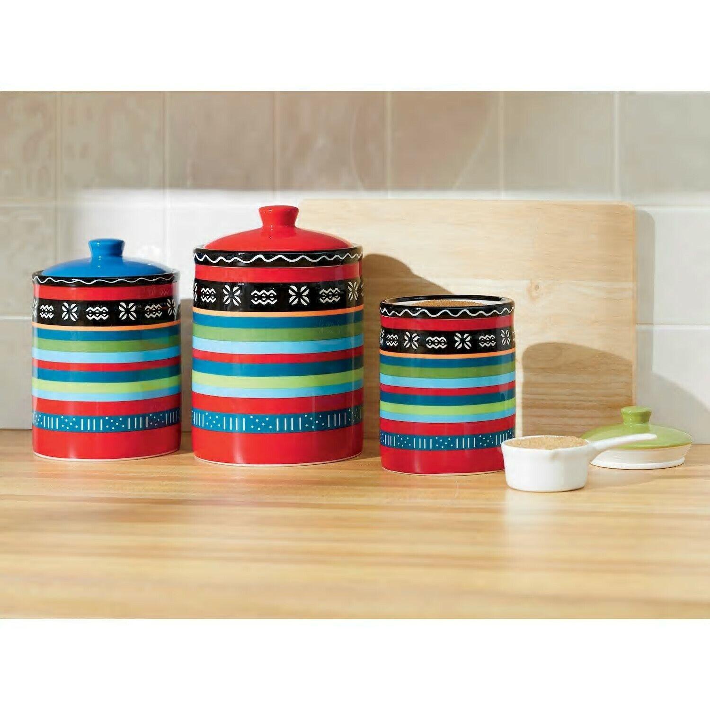 9 Piece Canister Sets Kitchen Ceramic