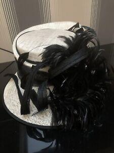 New Ladies linen hat Kentucky Derby Church Wedding Noble Dress hat Flax Mesh hat