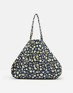 Joules Womens Hillwood Quilted Tote Bag - NAVY LEOPARD in One Size