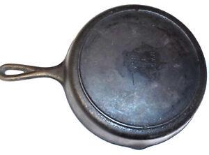 Vintage 8 Cast Iron Skillet W Heat Ring Sk D1 Old Lodge