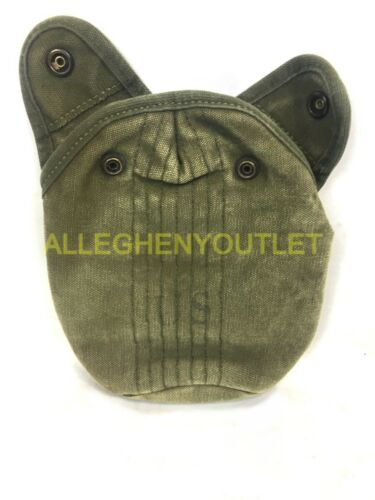 US Military Vietnam Era M-1956 1QT Canvas Canteen Cover w// Alice Clips OD VGC