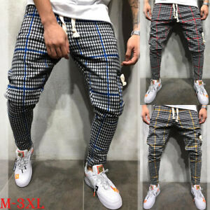 Men-Slim-Fit-Tracksuit-Sport-Casual-Skinny-Jogging-Joggers-Sweat-Pants-Trousers