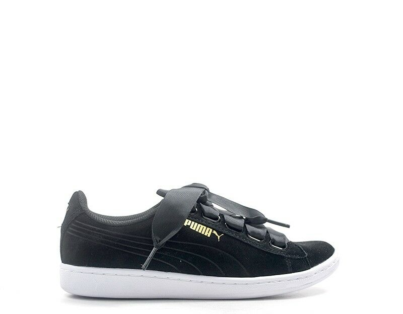 shoes PUMA Woman Sneakers black Natural leather 364262-002