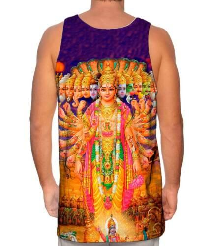 """Indian Art /""""Durga Goddess/"""" New Men Tank Top Tee Shirt Yizzam"""