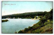 1909 Rock River, Dixon, IL Postcard