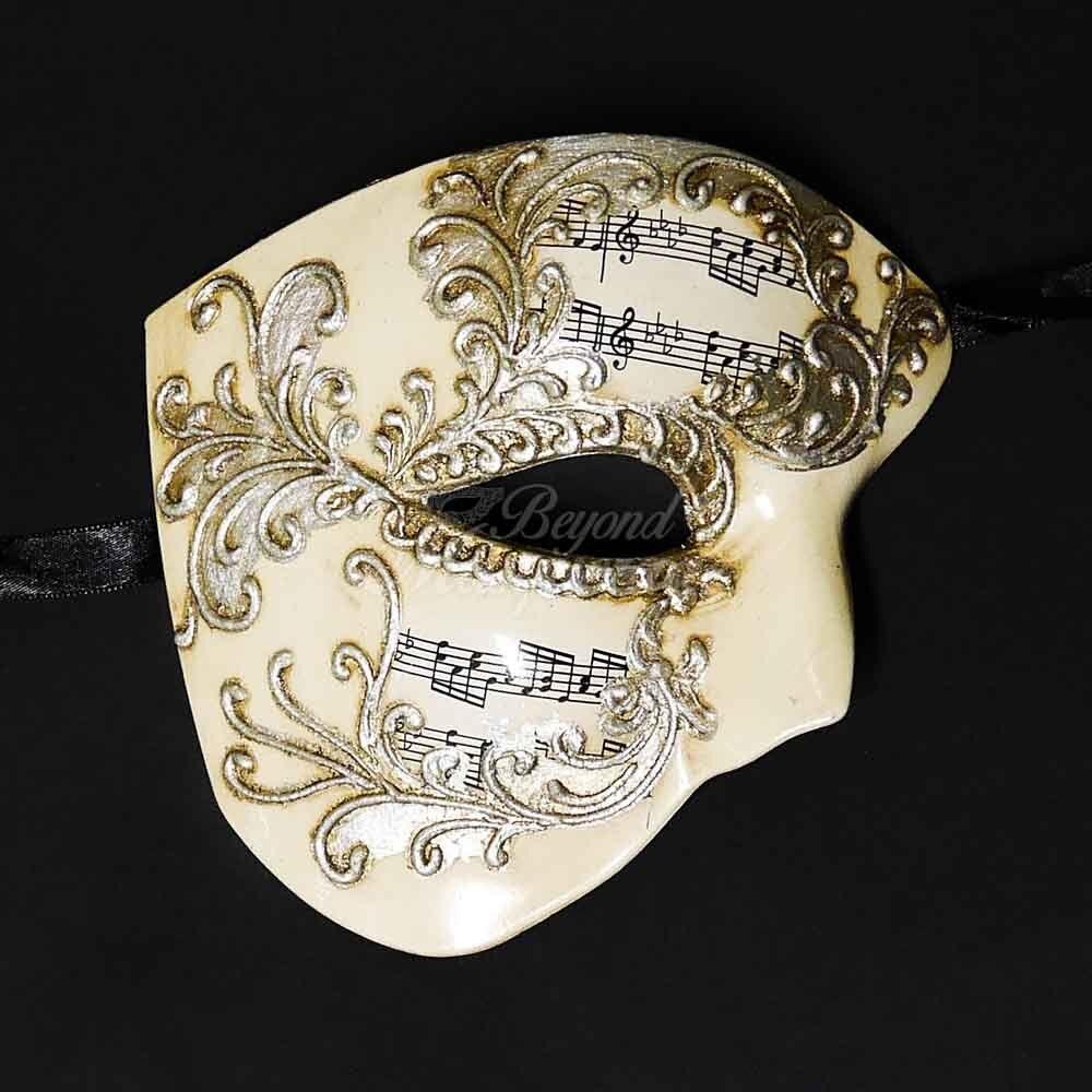 Phantom of the Opera Venetian Masquerade Mask for Men M2601 Gold
