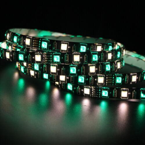 LED Strip 5050 Black PCB 12V Flexible LED Light 60LED//m 1m 5m RGB 5050 Strip lot