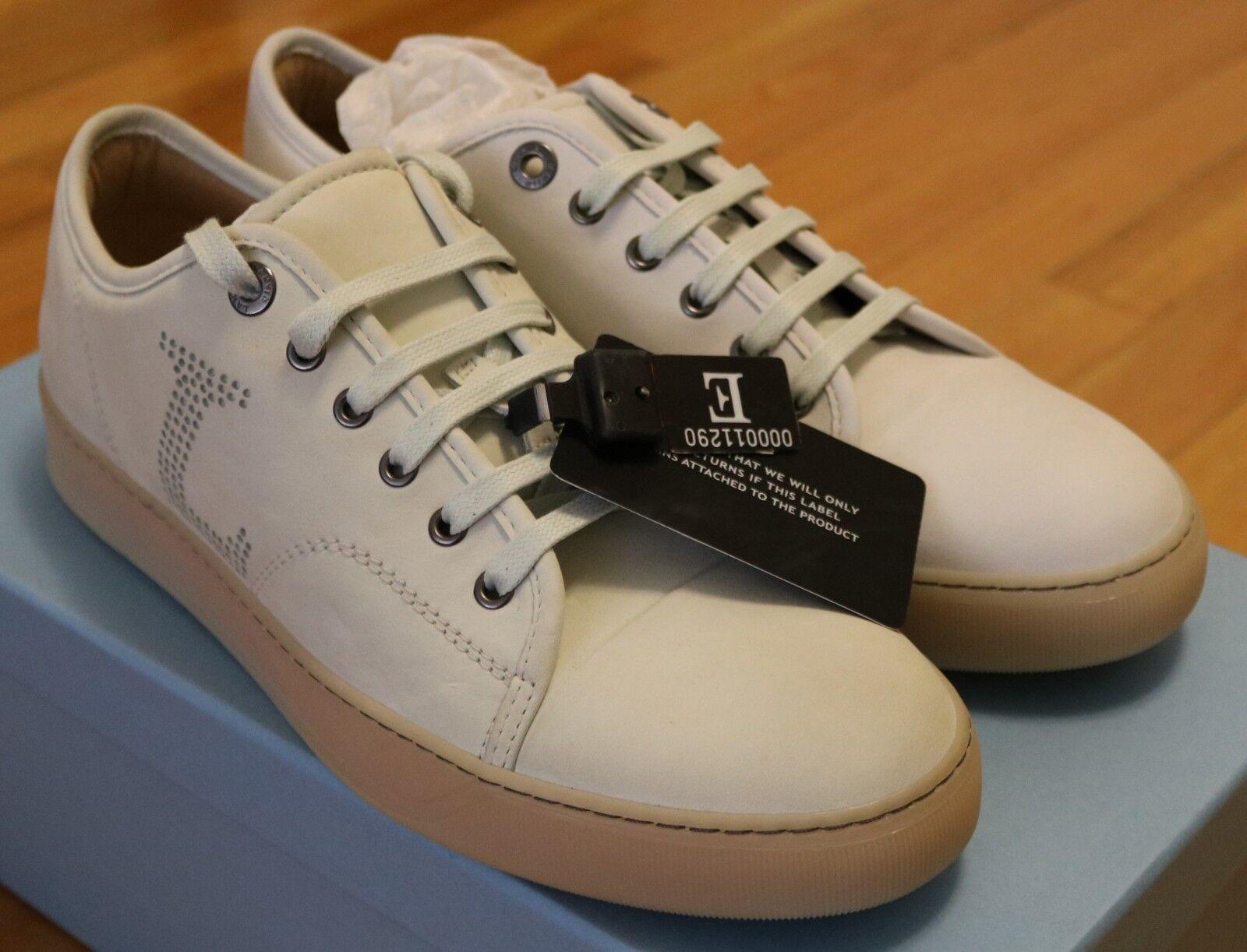Lanvin Cap Toe Nubuck Leather Sneakers