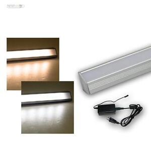 led alu lichtleiste set m trafo unterbauleuchte kalt warmwei regalbeleuchtung. Black Bedroom Furniture Sets. Home Design Ideas