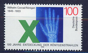 ALEMANIA-RFA-WEST-GERMANY-1995-MNH-SC-1885-W-K-Rontgen