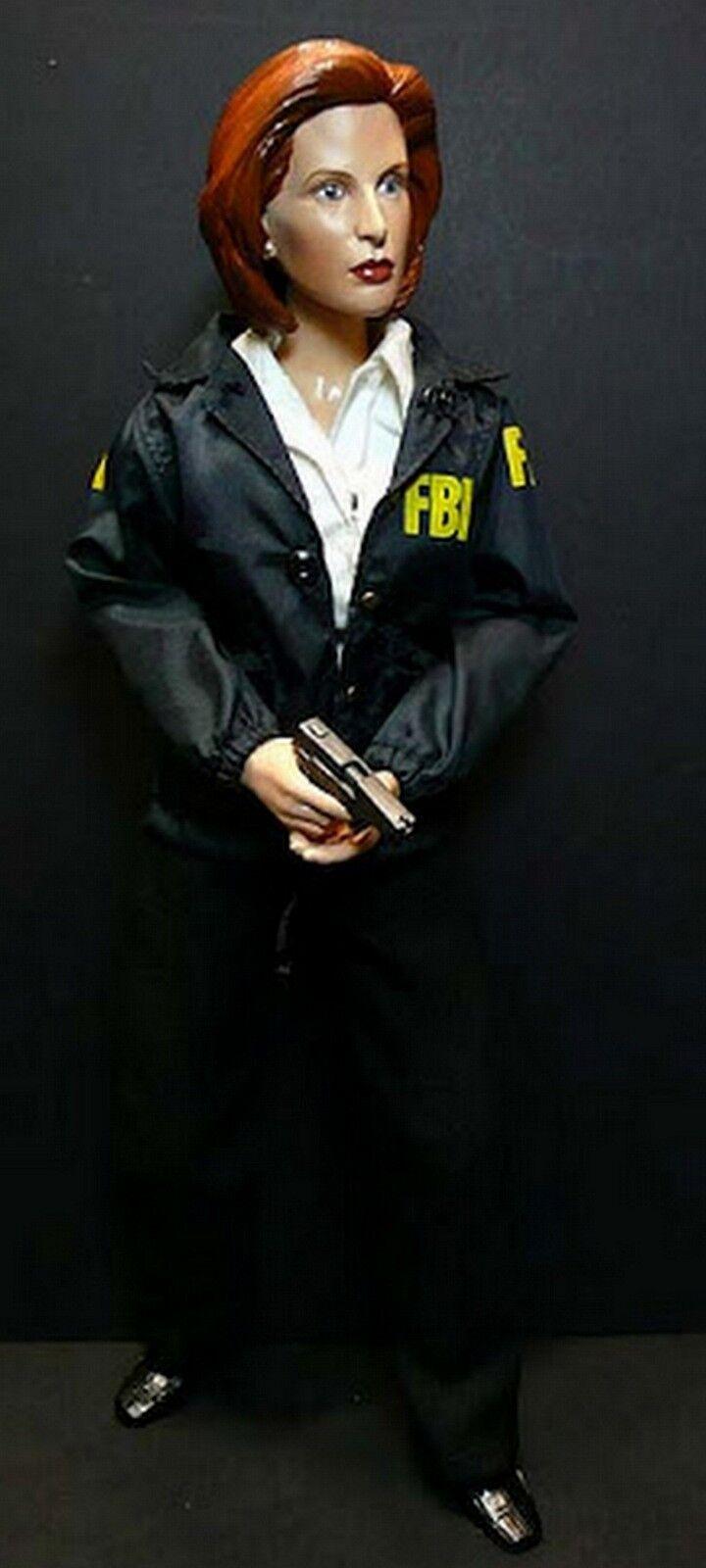 descuento de ventas en línea Sideshow Exclusivo De X-Files X-Files X-Files Dana Scully sexta escala 12  con chaqueta del FBI figura 1 6  más orden