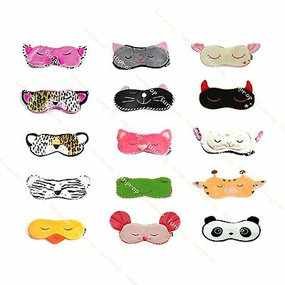 Eye Mask Shades Blindfold Sleeping Warm Cold Gel pack Travel Comfortable Night's
