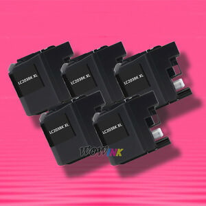 5-BLACK-INK-for-Brother-LC203XL-LC203BK-MFC-J4320DW-J4420DW-J460DW-J4620DW