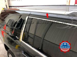 2015-2019-Chevy-Tahoe-GMC-Yukon-Chrome-Roof-Rack-Cover-Molding-2Pc-Trim-Flat