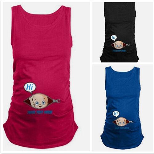 Eg /_ DAMEN Eigenartige Sommer Übergrößen Schwangerschaft Kleidung Tank Top
