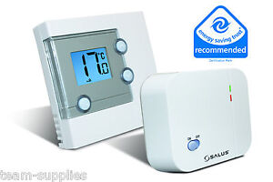 Salus-LCD-digital-electronico-inalambrico-Termostato-de-temperatura-RT300RF