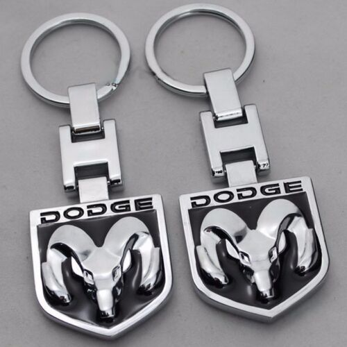 2019 Car Key Chain 2 side Logo Metal keyring key holder Chrome Fit For Dodge Ram