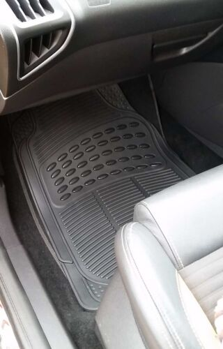 Waterproof BLACK Rubber Car Non-Slip Floor Mats Kia Rio