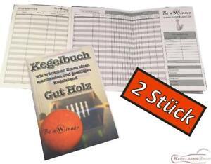 2-STUCK-Kegelbuch-Kegelkassenbuch-Kegelkladde-OVP-NEU