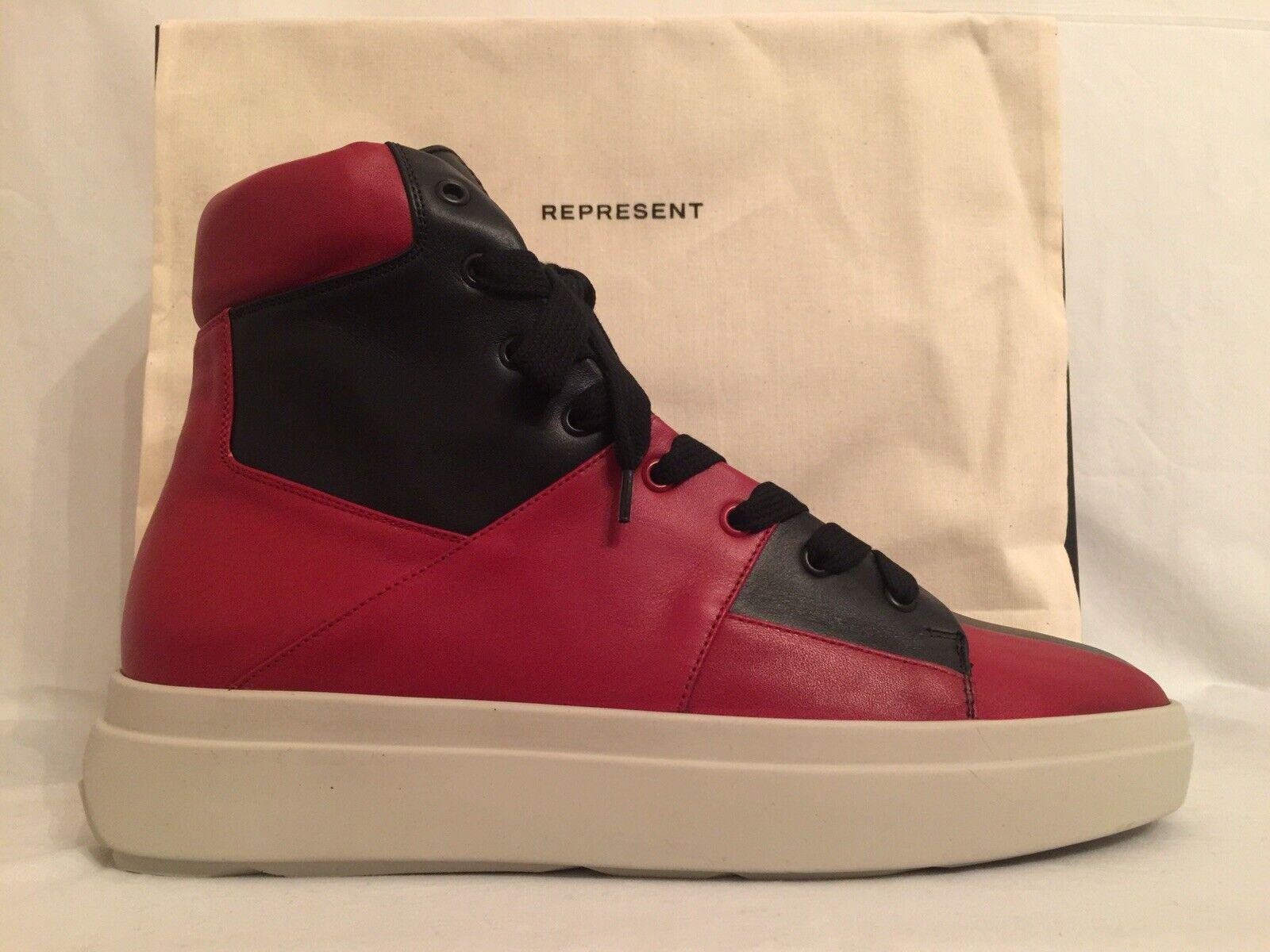 BRAND NEW  435 DS Represent Clo Alpha Mid scarpe da ginnastica rosso   nero US 12   BNIB