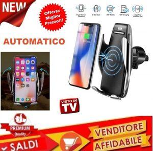 Supporto-telefono-wireless-caricatore-X-auto-Infrarossi-bloccaggio-automatico-QI