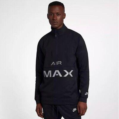 Nike Sportswear Air Max Woven Hommes Demi Fermeture Éclair Kangaroo Poche Veste Noir L | eBay
