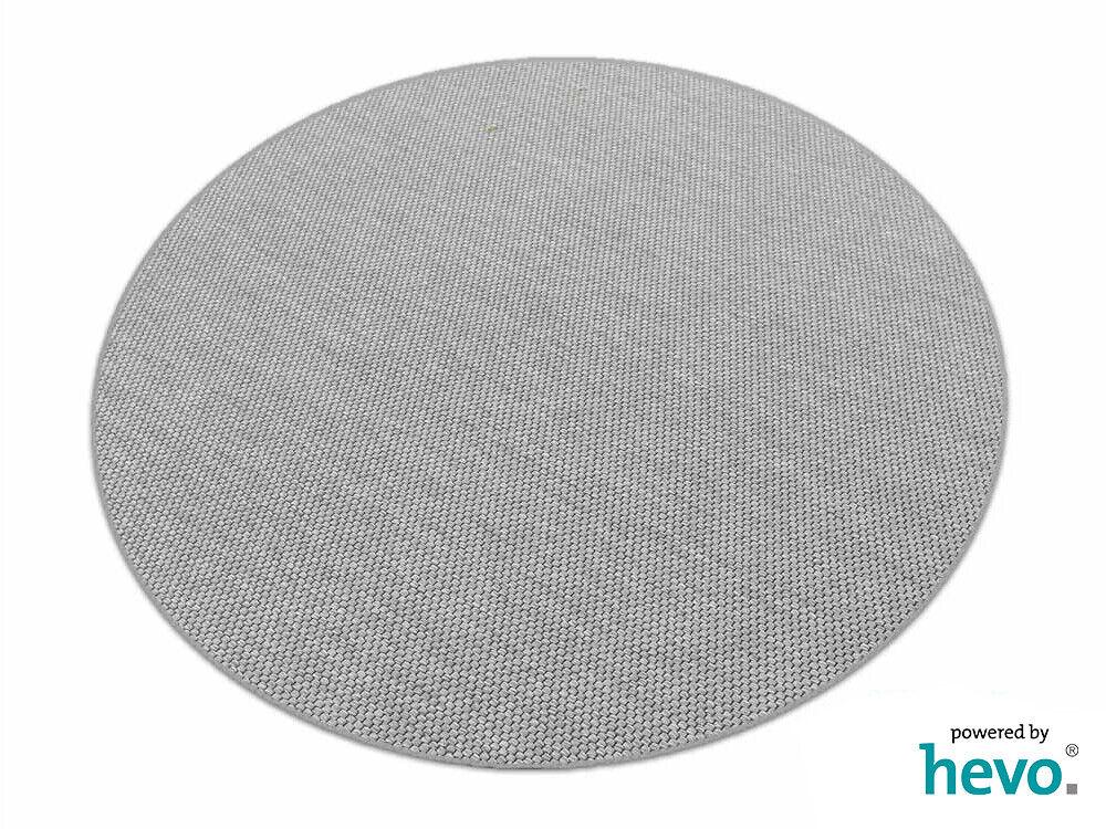 Benny grau HEVO® Kettel Teppich Dänisches Flachgewebe 200 cm Ø Ø Ø Rund 0bf1d8