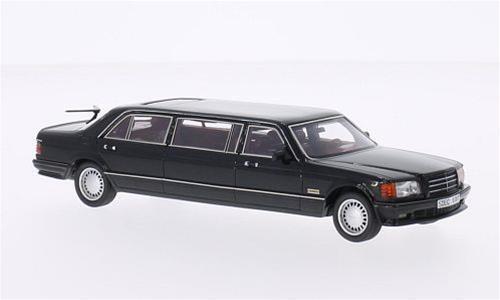 Mercedes W126 Stretch Limousine Black 1:43 NeoScale NEO45357 Model
