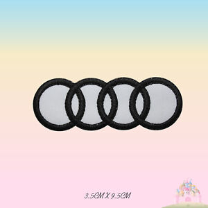 Audi-Car-Brand-Logo-Motor-Sport-Embroidered-Iron-On-Patch-Sew-On-Badge-Applique