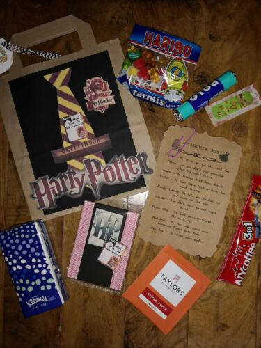 Hen party filled Hangover kit party bags personalised