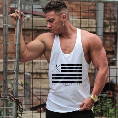 Men Tank Top Singlet Bodybuilding Stringers Sleeveless Clothes Vest Muscle Shirt