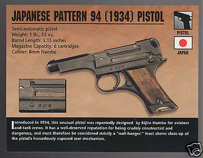 JAPANESE PATTERN 94 (1934) PISTOL Japan WW2 Hand Gun Classic Firearms PHOTO  CARD   eBay