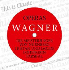 CD Richard Wagner Opern Operas  Gesamtwerk Complet  12CDs mit Tristan und Isolde
