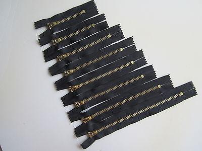 2 x Black Closed End Zip, Zips,Zipper,Zippers Heavyweight Metal 3,4,5,6,7 inches