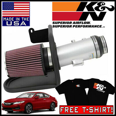 BCP BLACK 2013-2017 Honda Accord 2.4L COLD SHIELD AIR INTAKE KIT FILTER