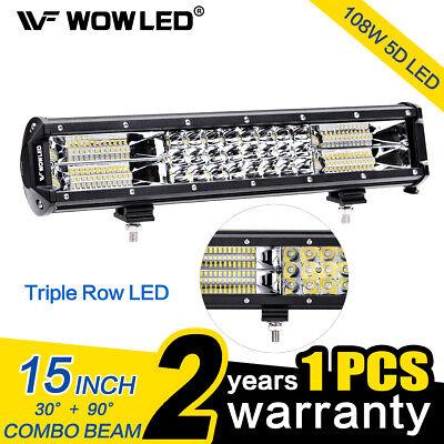Wowled 15 Inch 108w Led Light Bar Spot Flood Combo Offroad Driving Lamp Bar Ebay