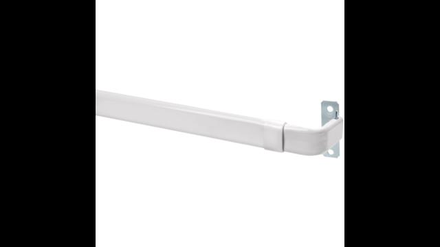 Double Lock-Seam Adjustable Curtain Rod