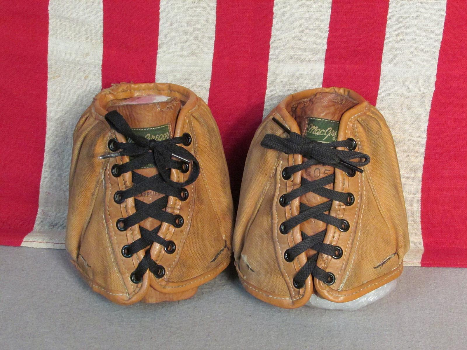 Vintage 1940s MacGregor Leather & Canvas Ankle Weights 3 lbs Exercise Running