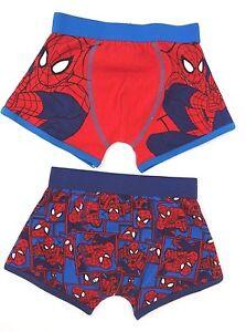 Spider Man BOYS PANTS BRIEFS UNDERWEAR 2 Packs of 3 age 6-8 years  nwt