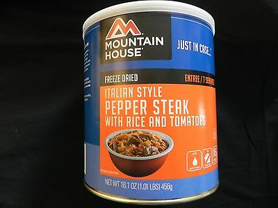 3 Cans Italian Style Peper Steak - Mountain House Freeze Dried Emergency Food