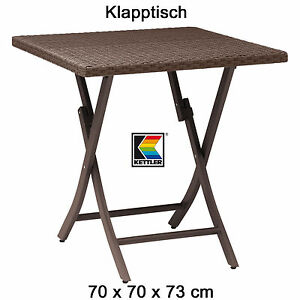 kettler tisch 70x70 cm klappbar in havanna braun bistro balkontisch gartentisch ebay. Black Bedroom Furniture Sets. Home Design Ideas