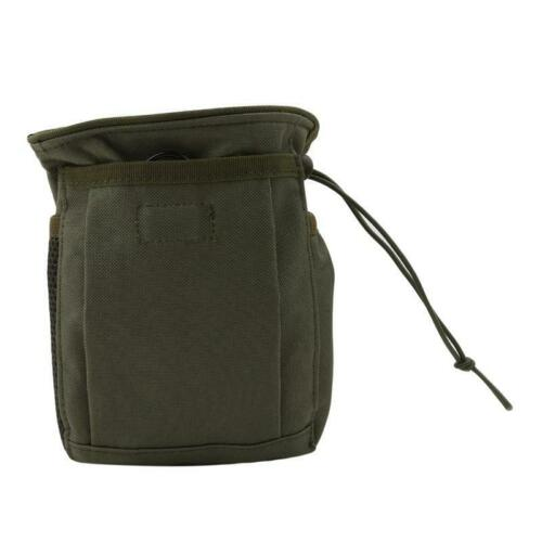Tactical Paintball Magazine Dump Pouch Hunting Hiking Military Molle Belt Bag T