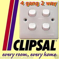Clipsal 4 gang 2 way Switch lighting 250V 10A WHITE NEW UK SELLER
