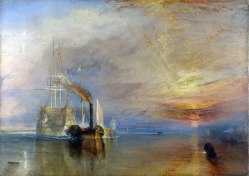 William Turner la lucha Temeraire Fine Art Print//cartel