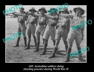 OLD-POSTCARD-SIZE-PHOTO-OF-AUSTRALIAN-ARMY-SOLDIERS-IN-SHOOTING-PRACTICE-WWII