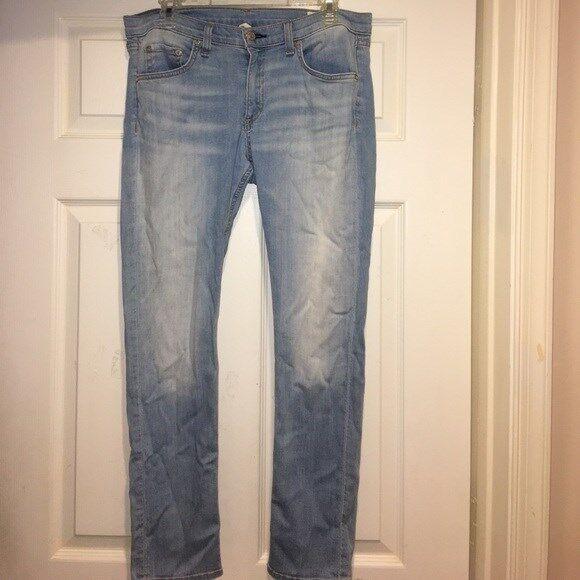 Rag & Bone Jeans lumière Wash Rio Capri Jean Stretch Pantalon Sz30 excellent état utilisé