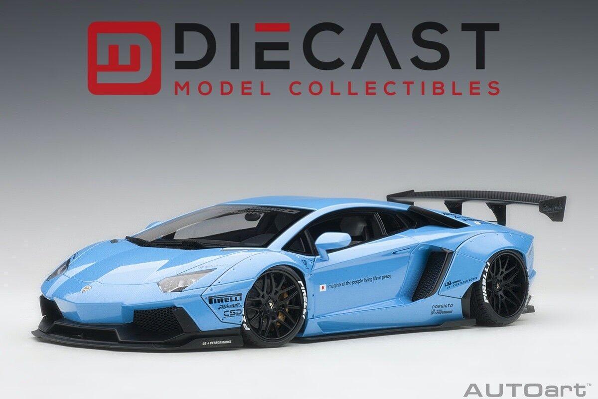 Autoart 79107 libertad LB-funciona Lamborghini Aventador caminar (Met. cielo Azul) 1 18TH