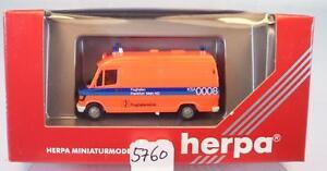 Herpa 1/87 043700 MERCEDES BENZ 310d RTW Aeroporto clinica Francoforte OVP #5760