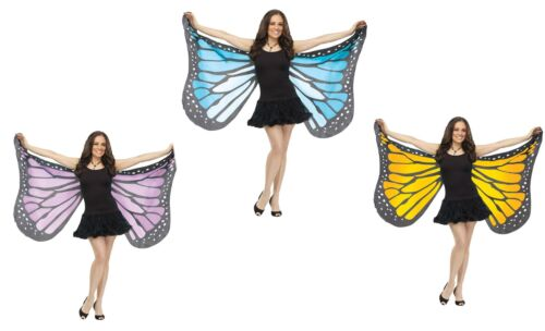 Soft Fabric Adult Monarch Butterfly Wings Nymph Fairy Costume Accessory