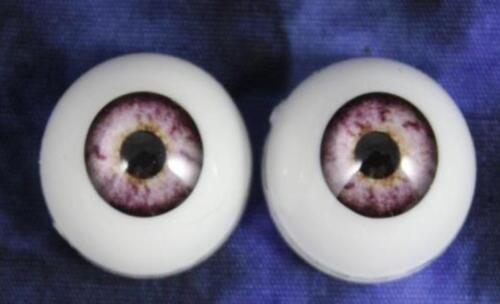 ONE PAIR 20 MM Pabol Lt Violet Pabol  Acrylic Doll Eyes FAST SHIPPING
